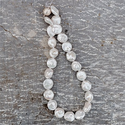 Fresh Water Coin Pearl with Magnetic Clasp