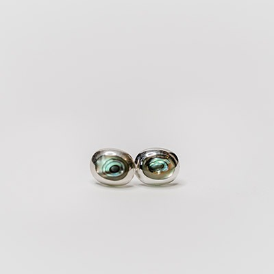 Paua Shell Set in Silver Stud Earrings